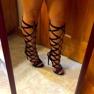 Lace Up Heels (size 7.5)
